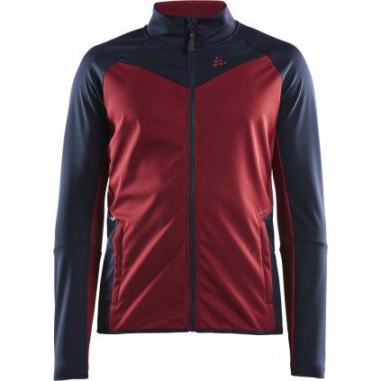 Pánská softshellová bunda CRAFT Glide červená/modrá