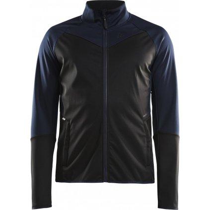 Pánská softshellová bunda CRAFT Glide tm.modrá/černá