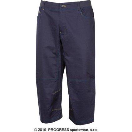 Pánské 3/4 outdoorové kalhoty PROGRESS Cactus 3Q tm.modrá