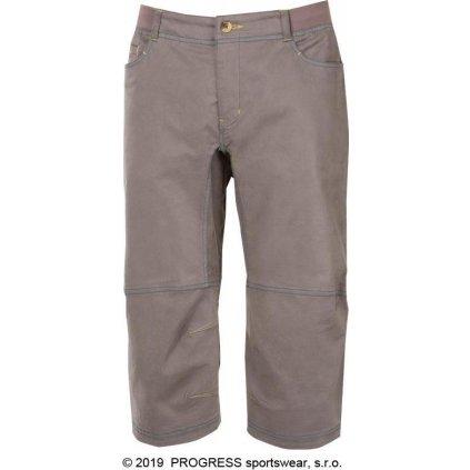 Pánské 3/4 outdoorové kalhoty PROGRESS Cactus 3Q šedohnědá