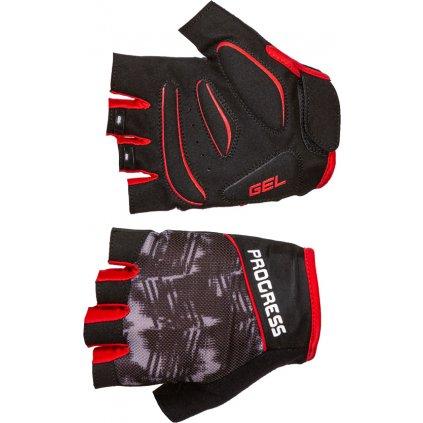 Cyklistické rukavice PROGRESS Ripper Mitts černá/šedá/červená
