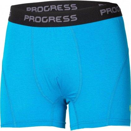 Pánské bambusové boxerky PROGRESS E Skn modrá