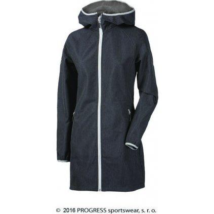 Dámský softshellový kabát PROGRESS Riga šedá