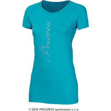 Dámské sportovní tričko PROGRESS Mania sv.modrá