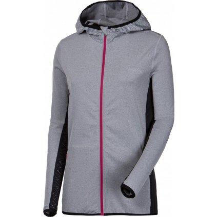 Dámská běžecká mikina PROGRESS Jogging Lady šedý melír/černá