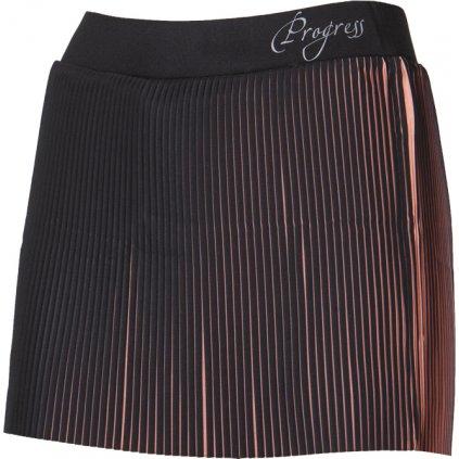 Dámská běžecká sukně 2v1 PROGRESS Lamella černá/lososová