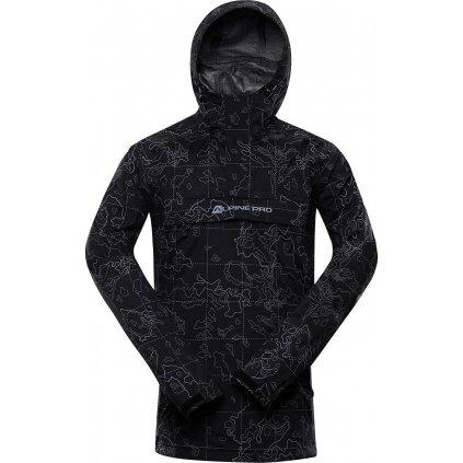 Pánská nepromokavá bunda ALPINE PRO PTX Padrig černá