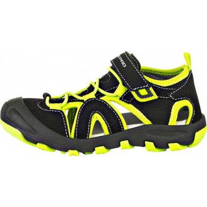 Dětské sandály ALPINE PRO Flavio černé