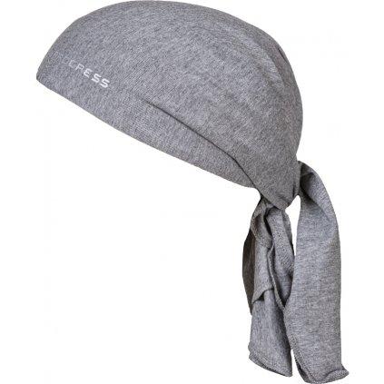 Trojcípý funkční šátek PROGRESS B Sat šedý melír