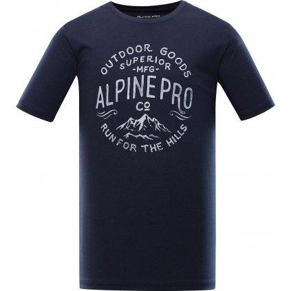 Pánské bavlněné triko ALPINE PRO Uneg 9 modré