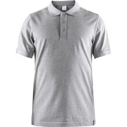 Pánské funkční polo tričko CRAFT Casual Polo Pique šedá