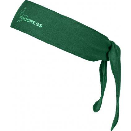Zavazovací funkční čelenka PROGRESS B Cel zelená