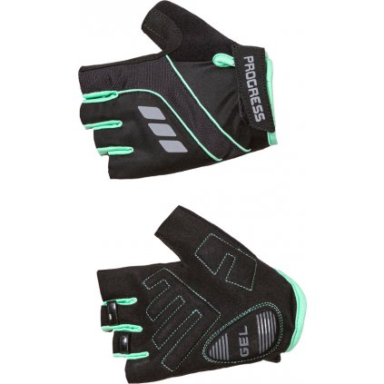 Cyklistické rukavice RPOGRESS Calamita Mitts černá/mint