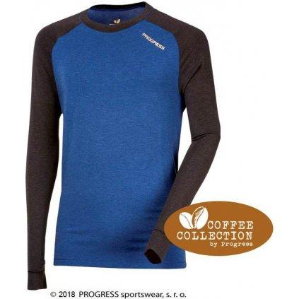 Pánské funkční tričko PROGRESS Cc Ndr antracit/modrá