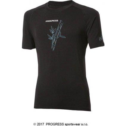 Pánské bambusové tričko PROGRESS E Nkr černá 2018