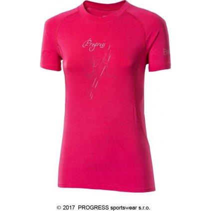 Dámské bambusové tričko PROGRESS E Nkrz růžová