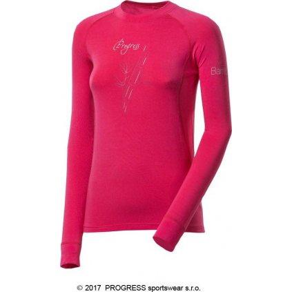 Dámské bambusové tričko PROGRESS E Ndrz růžová