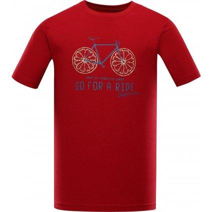 Pánské bavlněné triko ALPINE PRO Amit 8 červené