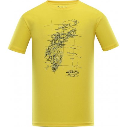 Pánské triko ALPINE PRO Quart 2 žluté