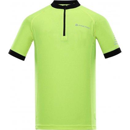 Pánské cyklistické triko ALPINE PRO Soran žluté