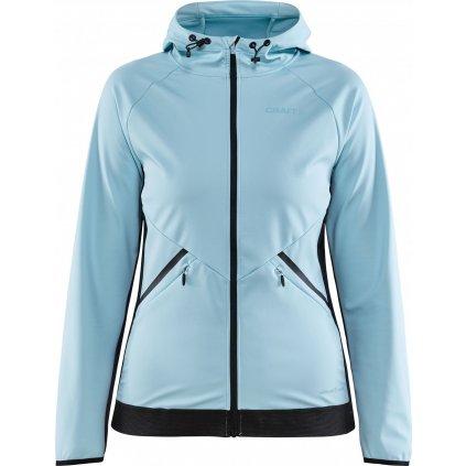Dámská softshellová bunda CRAFT Glide Hood světle modrá