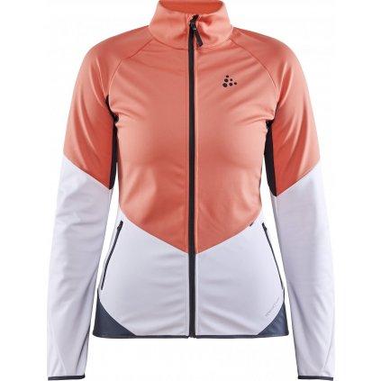 Dámská softshellová bunda CRAFT Glide oranžová