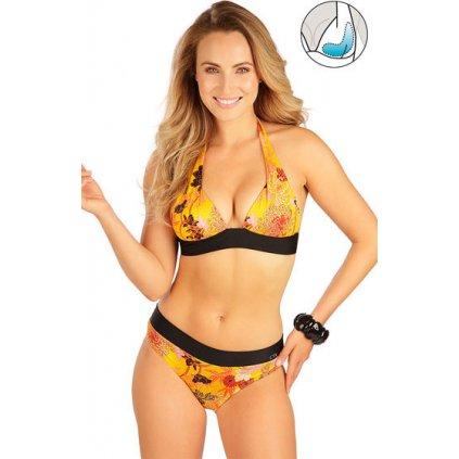 Dámské plavky podprsenka LITEX s košíčky push-up žlutá