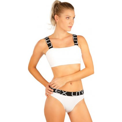 Dámské plavky sportovní top LITEX s výstuží bílý