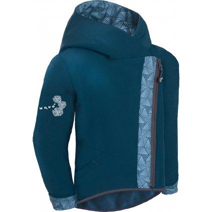 Dětská softshellová bunda s fleecem UNUO Cross, Kobaltová, Sharp kluk