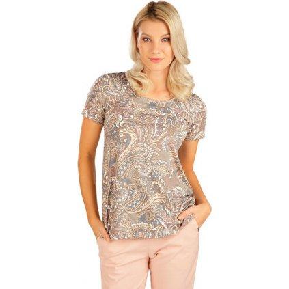 Dámské tričko LITEX s krátkým rukávem hnědé