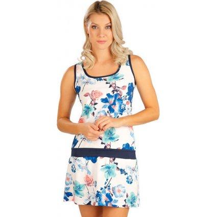 Dámské šaty LITEX bez rukávu modré/bílé