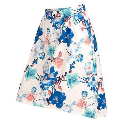 Dámská sukně LITEX bílá/modrá