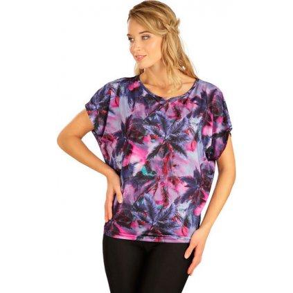 Dámské tričko LITEX s krátkým rukávem fialové