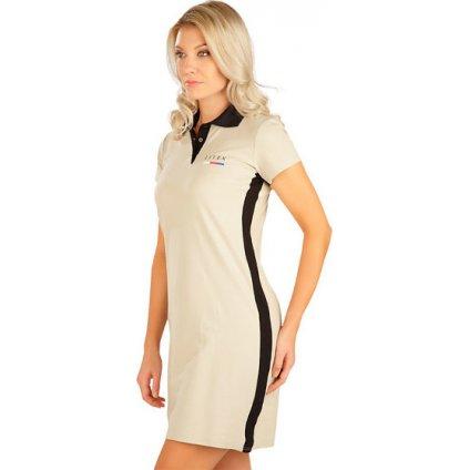 Dámské šaty LITEX s krátkým rukávem béžové