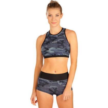 Dámské plavky kalhotky LITEX bokové s nohavičkou šedé