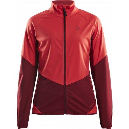Dámská softshellová bunda CRAFT Glide červená