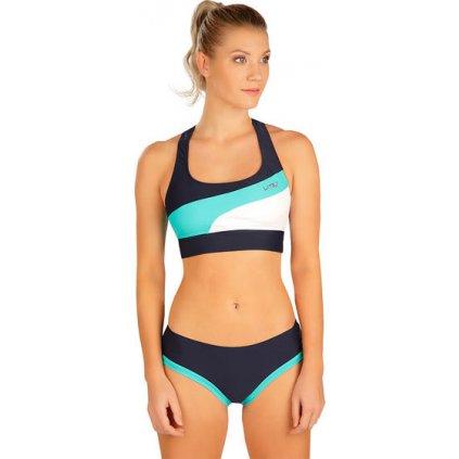 Dámské plavky LITEX sportovní top bez výztuže modrý