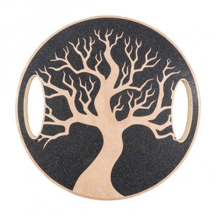 Balanční deska YATE dřevěná, strom