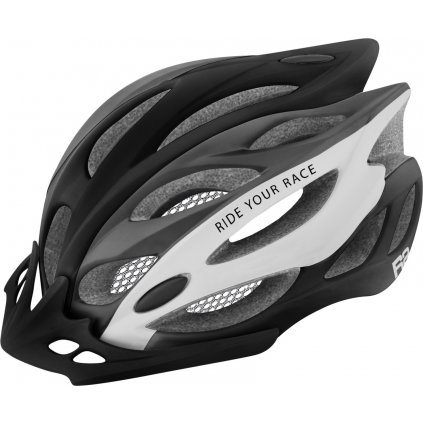 Cyklistická helma R2 Wind černá/bílá