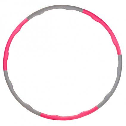 Skládací obruč YATE 98 cm růžová/šedá