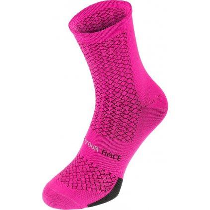 Cyklistické ponožky R2 Endurance růžové