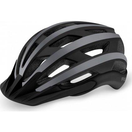 Cyklistická helma R2 Explorer černá/šedá