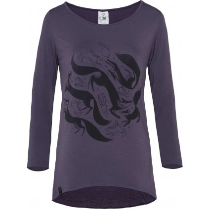 Dámské tričko WOOX Ichtys Purple Pennant