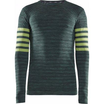 Pánské termo tričko CRAFT Fuseknit Comfort Blocked Ls zelená