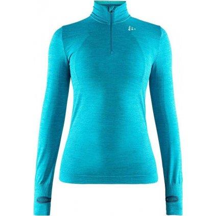 Dámské termo tričko CRAFT Fuseknit Comfort Zip modrá