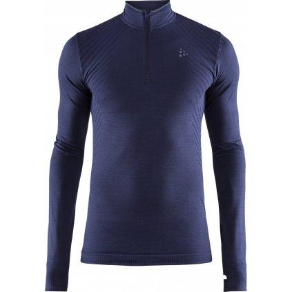 Pánské funkční tričko CRAFT Fuseknit Comfort Zip tmavě modrá