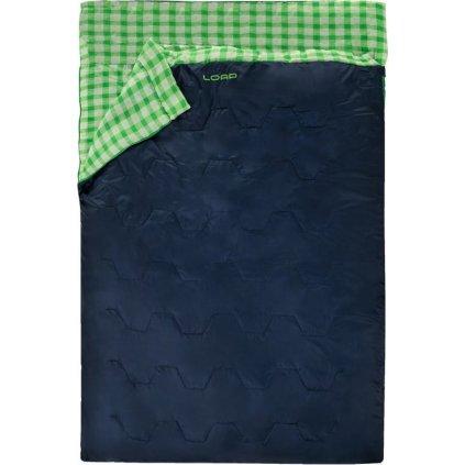 Spací pytel pro 2 dekový LOAP Trax modrá/zelená