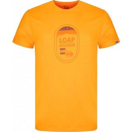 Pánské triko LOAP Alfino oranžové