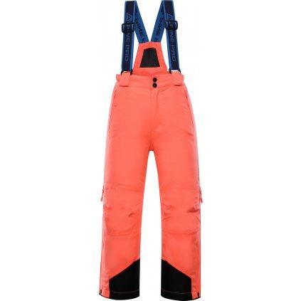 Dětské lyžařské kalhoty ALPINE PRO Nuddo 4 lososová