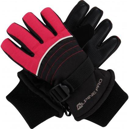 Dětské zimní rukavice ALPINE PRO Korio černá/růžová